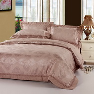 European Classical Camel Grey 4 PCs Luxury Bedding Sets