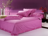 Luxuriant Movement Lilac 4 PCs Luxury Bedding Sets
