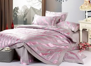 Overwhelming Love Silvery Grey 4 PCs Luxury Bedding Sets