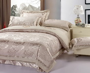 Tenderness Grey 4 PCs Luxury Bedding Sets