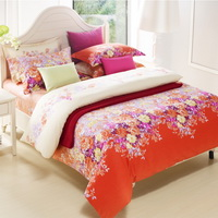 Flowers Orange Modern Bedding Sets