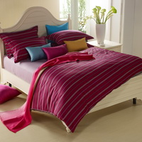 Melody Space Red Modern Bedding Sets
