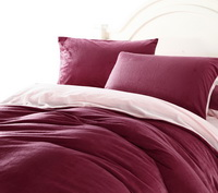 Wine Red And Pink Modern Bedding Sets