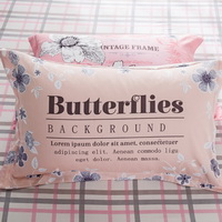 Butterfly Flowers 100% Cotton Pillowcase, Include 2 Standard Pillowcases, Envelope Closure, Kids Favorite Pillowcase