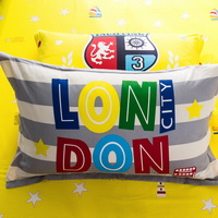 London City 100% Cotton Pillowcase, Include 2 Standard Pillowcases, Envelope Closure, Kids Favorite Pillowcase