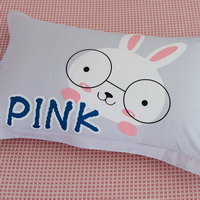 Rabbit Sisters 100% Cotton Pillowcase, Include 2 Standard Pillowcases, Envelope Closure, Kids Favorite Pillowcase