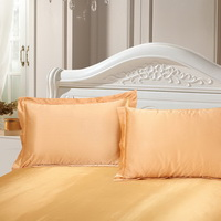 Golden Silk Pillowcase, Include 2 Standard Pillowcases, Envelope Closure, Prevent Side Sleeping Wrinkles, Have Good Dreams