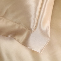 Light Tan Silk Pillowcase, Include 2 Standard Pillowcases, Envelope Closure, Prevent Side Sleeping Wrinkles, Have Good Dreams