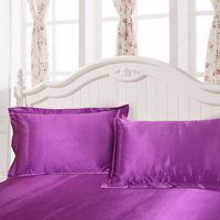 Purple Silk Pillowcase, Include 2 Standard Pillowcases, Envelope Closure, Prevent Side Sleeping Wrinkles, Have Good Dreams