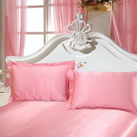 Red Pink Silk Pillowcase, Include 2 Standard Pillowcases, Envelope Closure, Prevent Side Sleeping Wrinkles, Have Good Dreams