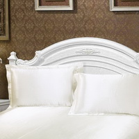 White Silk Pillowcase, Include 2 Standard Pillowcases, Envelope Closure, Prevent Side Sleeping Wrinkles, Have Good Dreams