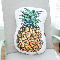 Pineapple White Pillow Decorative Pillow Throw Pillow Couch Pillow Accent Pillow Best Pillow Gift Idea