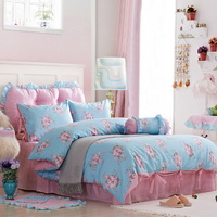 Budding Youth Sky Blue Polka Dot Bedding Princess Bedding Girls Bedding