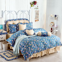 Flowers Blue Polka Dot Bedding Princess Bedding Girls Bedding