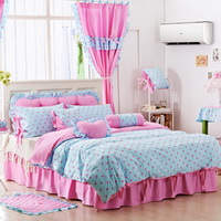 Princess Cha Cha Sky Blue Polka Dot Bedding Princess Bedding Girls Bedding