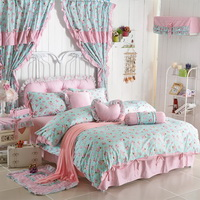 Sweet Flowers Light Green Polka Dot Bedding Princess Bedding Girls Bedding