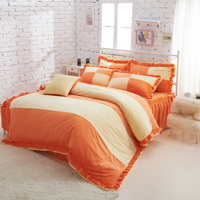 Missing You Orange Velvet Bedding Girls Bedding Princess Bedding