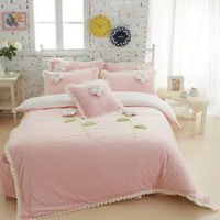 Sweet Princess Pink Velvet Bedding Girls Bedding Princess Bedding