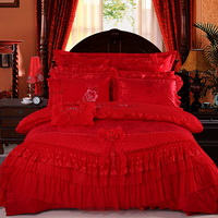Amazing Gift Being In Full Flower Red Bedding Set Princess Bedding Girls Bedding Wedding Bedding Luxury Bedding