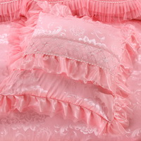 Amazing Gift Happy Event Pink Bedding Set Princess Bedding Girls Bedding Wedding Bedding Luxury Bedding