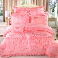 Amazing Gift Romantic Wedding Pink Bedding Set Princess Bedding Girls Bedding Wedding Bedding Luxury Bedding