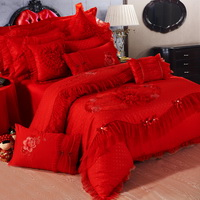 Amazing Gift Sweet Love Red Bedding Set Princess Bedding Girls Bedding Wedding Bedding Luxury Bedding