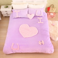 I Love U Purple Princess Bedding Girls Bedding Women Bedding