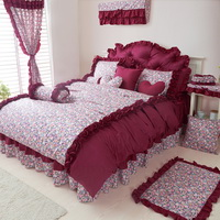 Red Bean Pie Grayish Red Princess Bedding Girls Bedding Women Bedding