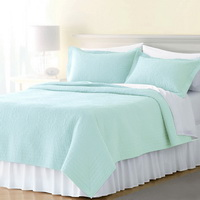 Blue Green 3 Pieces Quilt Sets
