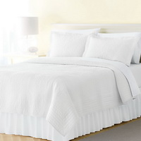 White 3 Pieces Quilt Sets