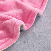 Pink Gray Coral Fleece Bedding Teen Bedding