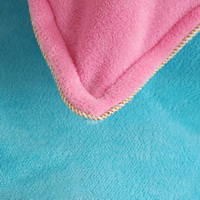 Sky Blue Pink Coral Fleece Bedding Teen Bedding