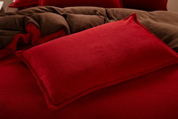 Cerise And Coffee Coral Fleece Bedding Teen Bedding