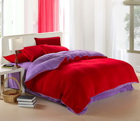 Cerise And Purple Coral Fleece Bedding Teen Bedding
