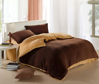 Coffee And Camel Coral Fleece Bedding Teen Bedding