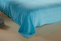 Green And Light Blue Coral Fleece Bedding Teen Bedding