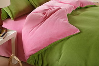 Green And Pink Coral Fleece Bedding Teen Bedding