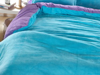 Light Blue And Purple Coral Fleece Bedding Teen Bedding