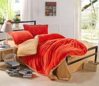 Orange And Camel Coral Fleece Bedding Teen Bedding