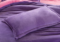 Purple And Pink Coral Fleece Bedding Teen Bedding