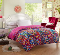 I Love Colors Rose Teen Bedding Duvet Cover Set