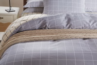Modern Grids Gray And Beige Teen Bedding Duvet Cover Set