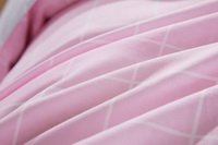 Modern Grids Pink And Gray Teen Bedding Duvet Cover Set