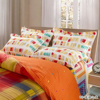 Blues Night Orange Teen Bedding Modern Bedding