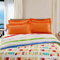 Colored Drawing Orange Teen Bedding Modern Bedding