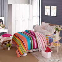 Horizontal Stripes Red Teen Bedding Modern Bedding