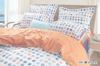 Simple Polka Dots Orange Teen Bedding Modern Bedding