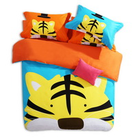 The Tiger Light Blue Cartoon Animals Bedding Kids Bedding Teen Bedding