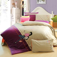 Leisure Time Purple Bedding Teen Bedding Modern Bedding Girls Bedding