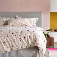 Emily Party Orange Bedding Set Teen Bedding Kids Bedding Duvet Cover Pillow Sham Flat Sheet Gift Idea